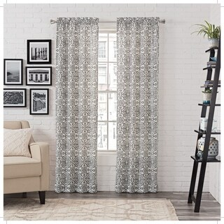 Carbon Loft Gutenberg Window Curtain Panel Pair