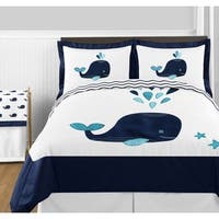 Sweet Jojo Designs Whale Collection Full/Queen 3-piece Comforter Set