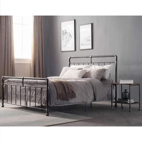 Carbon Loft Meitner Vintage Charcoal Metal Bed