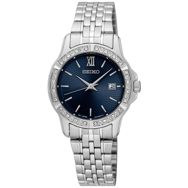 Seiko Women's Stainless Steel and Crystal watch with a Date Window
