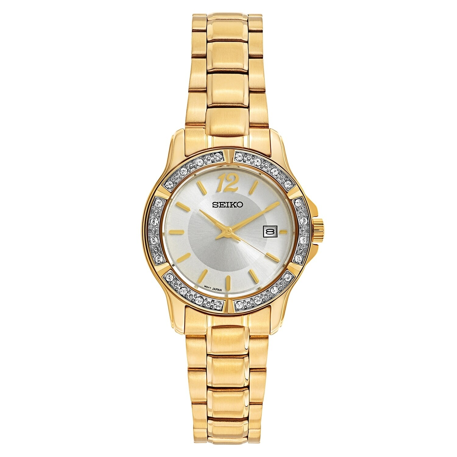 Seiko Women's SUR714 Stainless Steel and Crystal watch wi...