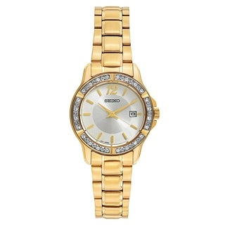 Seiko Women's SUR714 Stainless Steel and Crystal watch with a Date Window
