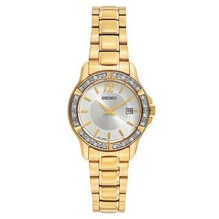 Seiko Crystal Dress Gold Women's Watch