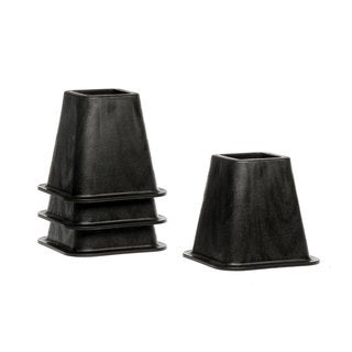 STRUCTURES 6 Inch Heavy-Duty Bed Risers - Set of 4 - Black