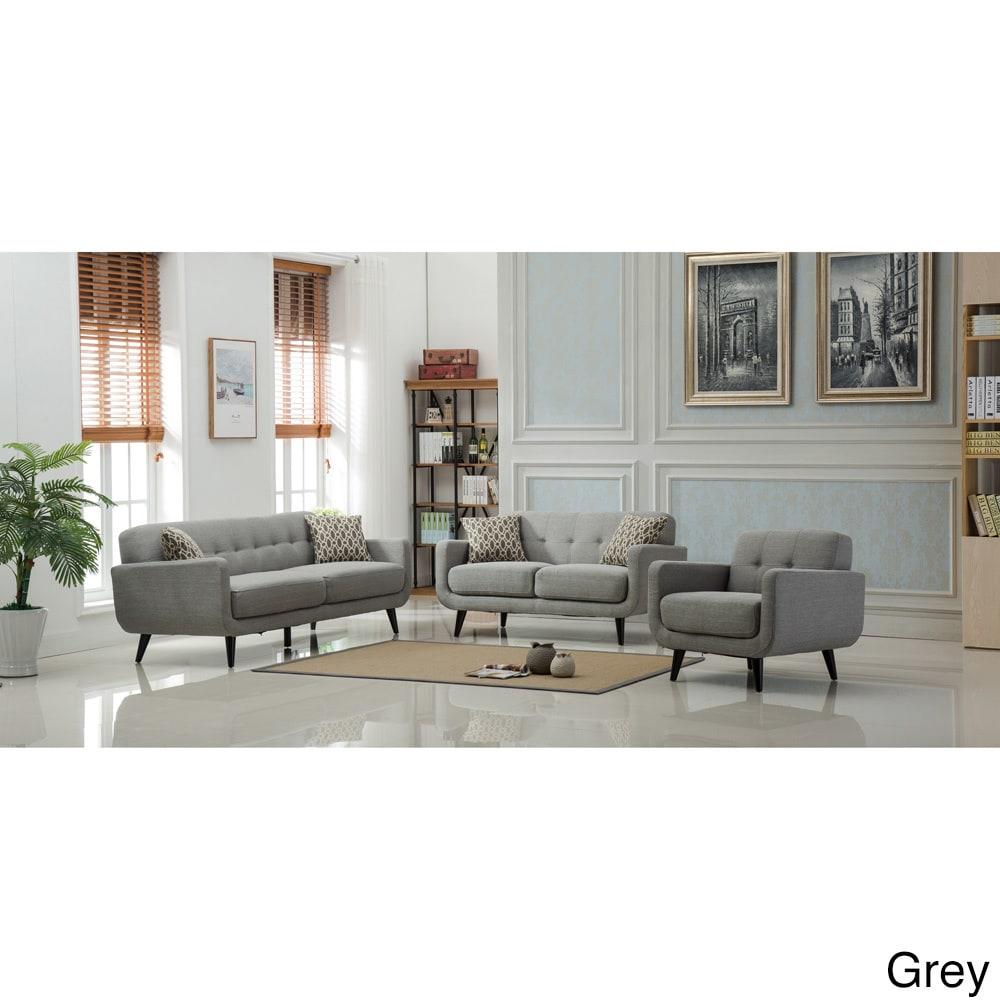 Modibella Contemporary Tufted 3-Piece Living Room Sofa Set | eBay