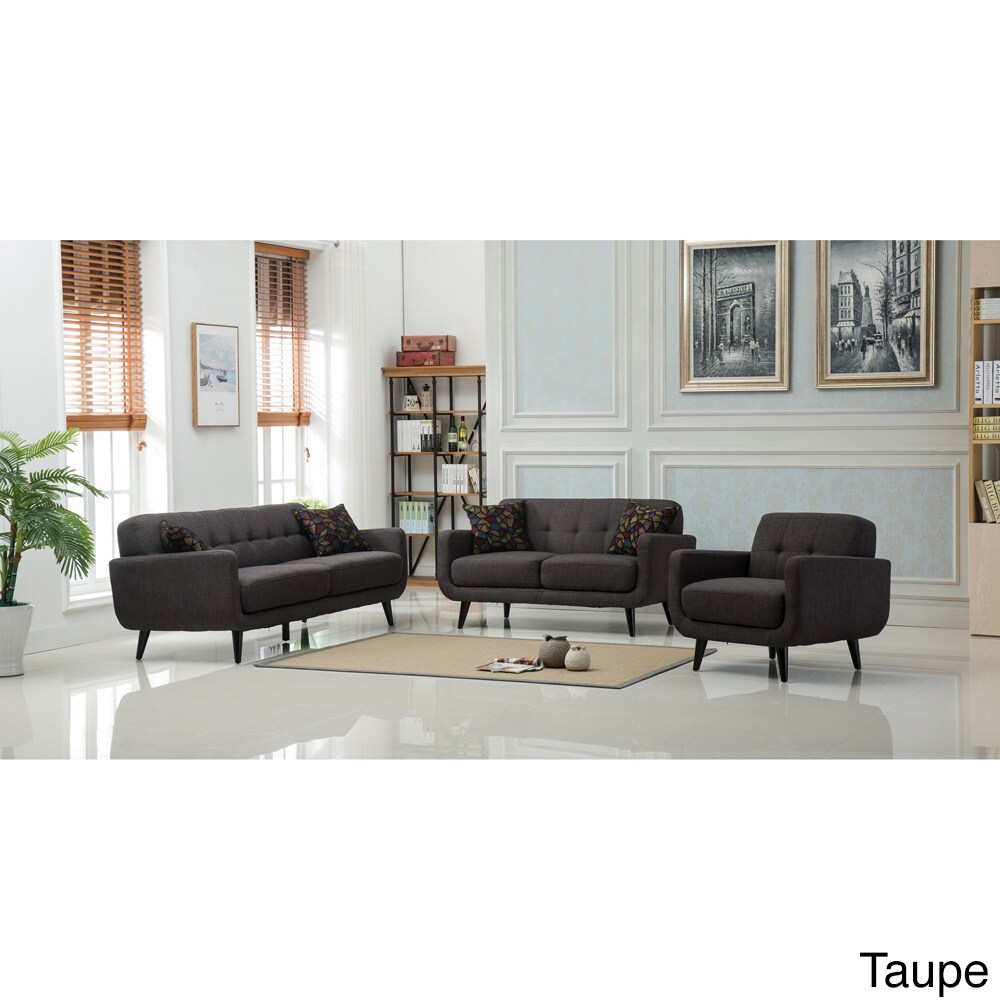 Modibella Contemporary Tufted 3-Piece Living Room Sofa Set | eBay