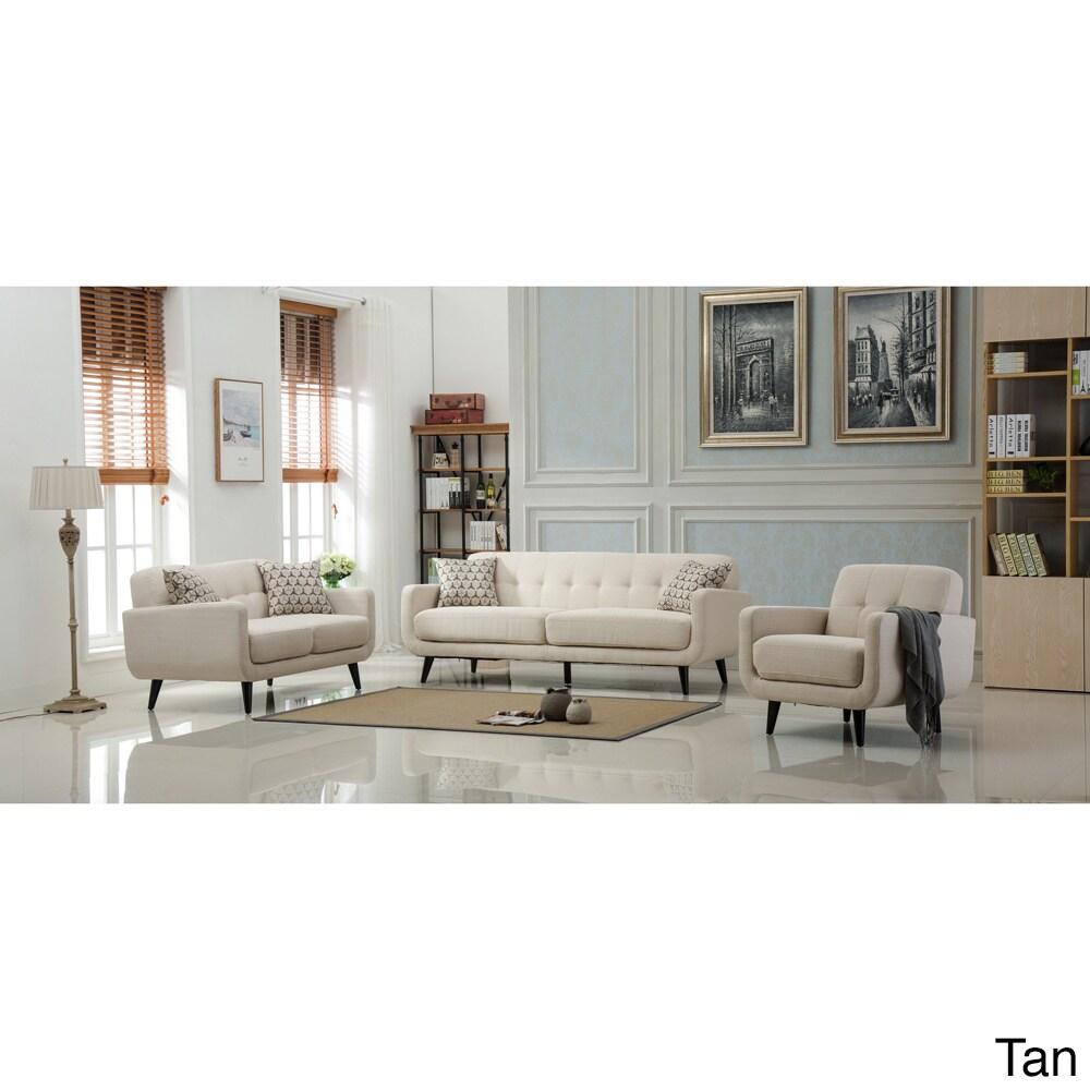 Modibella Contemporary Tufted 3-Piece Living Room Sofa Set   eBay