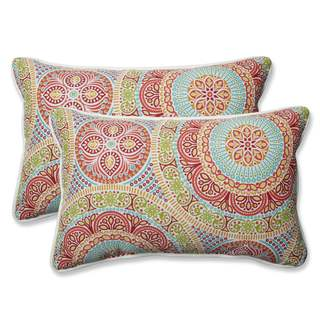 Pillow Perfect Outdoor/ Indoor Delancey Jubilee Rectangular Throw Pillow (Set of 2) (2 options available)