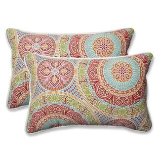 Pillow Perfect Outdoor/ Indoor Delancey Jubilee Rectangular Throw Pillow (Set of 2)