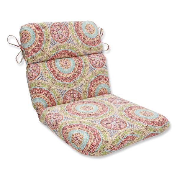 Pillow Perfect Outdoor Indoor Delancey Jubilee Rounded Corners Chair Cushion Free Shipping Today 14664059