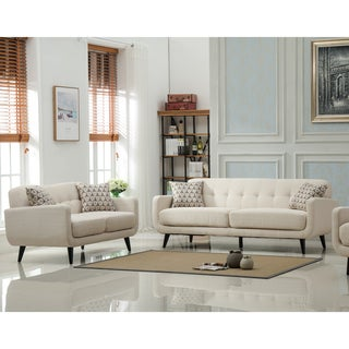 Modibella Contemporary Tufted 2-Piece Sofa and Loveseat Set