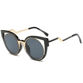 Dasein Oversized Butterfly Mirrored Sunglasses