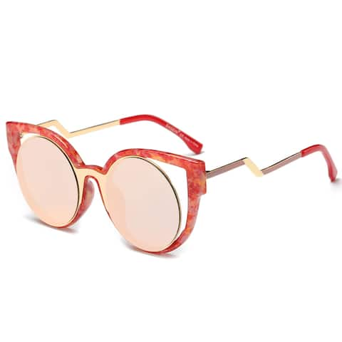 Dasein Oversized Butterfly Mirrored Sunglasses