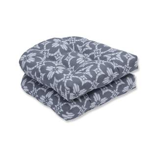 Pillow Perfect Outdoor/ Indoor Aspidoras Gray Wicker Seat Cushion (Set of 2)