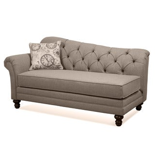 Metropolitan Taupe Fabric Upholstered Chaise Lounge with Pillow  sc 1 st  Overstock : chaise lounge furniture - Sectionals, Sofas & Couches
