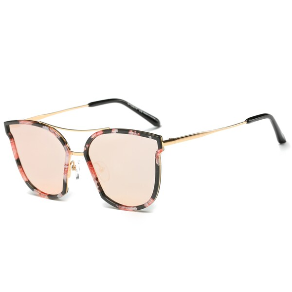 Shop Dasein Trendy Polarized Mirrored Lens Sunglasses W