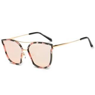 Dasein Trendy Polarized Mirrored Lens Sunglasses w/ Zip Closed Case