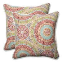 Pillow Perfect Outdoor/ Indoor Delancey Jubilee 18.5-inch Throw Pillow (Set of 2)