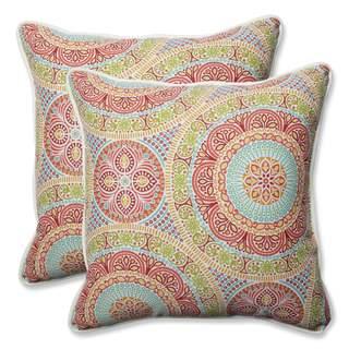 Pillow Perfect Outdoor/ Indoor Delancey Jubilee 18.5-inch Throw Pillow (Set of 2)