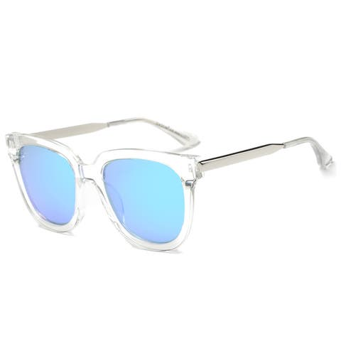 Dasein Polarized Square Sunglasses with Slim Metal Arms
