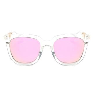 Dasein Polarized Square Sunglasses with Slim Metal Arms