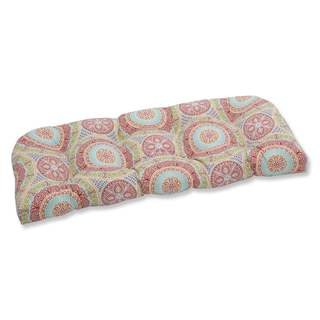 Pillow Perfect Outdoor/ Indoor Delancey Jubilee Wicker Loveseat Cushion