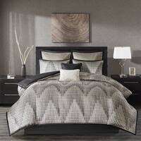 Madison Park Hailey Black 8 Piece Jacquard Comforter Set