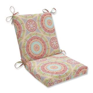 Pillow Perfect Outdoor/ Indoor Delancey Jubilee Squared Corners Chair Cushion