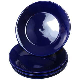 Le Souk Ceramique UBLU45 Stoneware Side Plates, Set of 4, Solid Blue|https://ak1.ostkcdn.com/images/products/14664230/P21200568.jpg?impolicy=medium