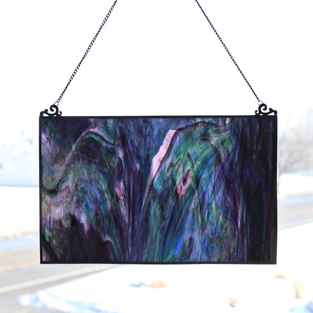 River Of Goods Blue and Purple Watercolor 10.75-inch High...