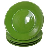 Handmade Le Souk Ceramique UPST45 Stoneware Side Plates, Set of 4, Solid Green (Pistachio)