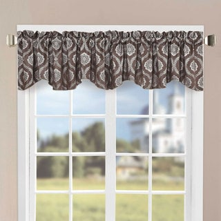 Serenta 58-inch Brown Jacquard Single Window Valance