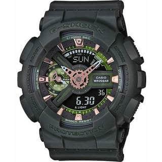 Casio G-Shock Green Dial Resin Quartz Men's Watch GMAS110CM-3A|https://ak1.ostkcdn.com/images/products/14664312/P21200645.jpg?impolicy=medium