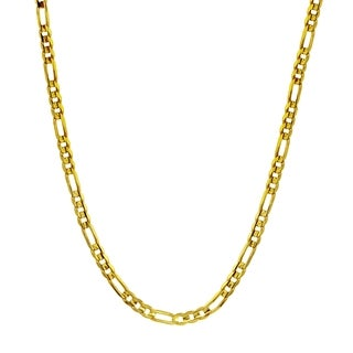 Men's 14k Yellow Gold 3.3mm Figaro Chain Necklace