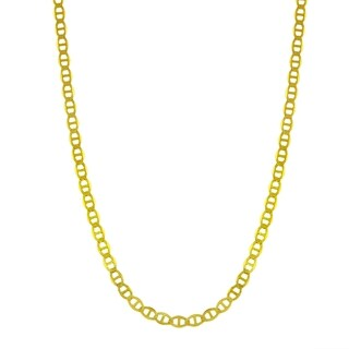 14k Yellow Gold 2.7mm Flat Mariner Chain Necklace