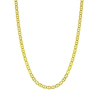 14k Yellow Gold 1.5mm Flat Mariner Chain Necklace