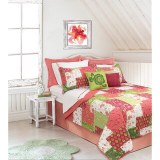 Caroline Coral Printed Quilt and Sham Set