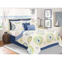 Corfu Printed Quilt and Sham Set