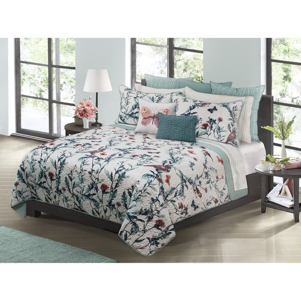 Eden Printed Fl 3 Piece Quilt Set On Free Shipping Today 14664390