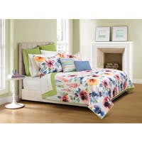 Talia Floral Quilt and Sham Set