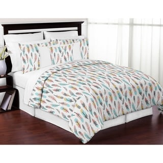 Sweet Jojo Designs Feather Collection 3-piece Full/Queen Comforter Set
