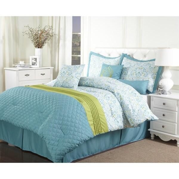 Bettina 7-piece Quatrefoil Pintuck Comforter Set