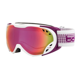 Bolle Women's 21136 Duchess (White & Plum Purple / Pink Mirror) Women's SKi Goggles