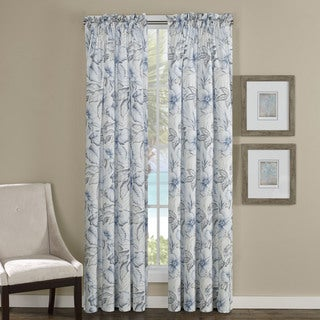 Tommy Bahama Casablanca Garden Grey Curtain Panel (Pair)