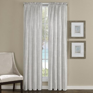 Tommy Bahama Tropic Leaves Grey Curtain Panel (Pair)