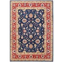 Herat Oriental Afghan Hand-knotted Vegetable Dye Oushak Wool Rug (9'10 x 13'10)