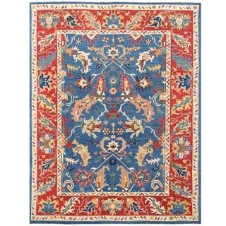 Herat Oriental Afghan Hand-knotted Vegetable Dye Oushak Wool Rug (10'3 x 13'6)