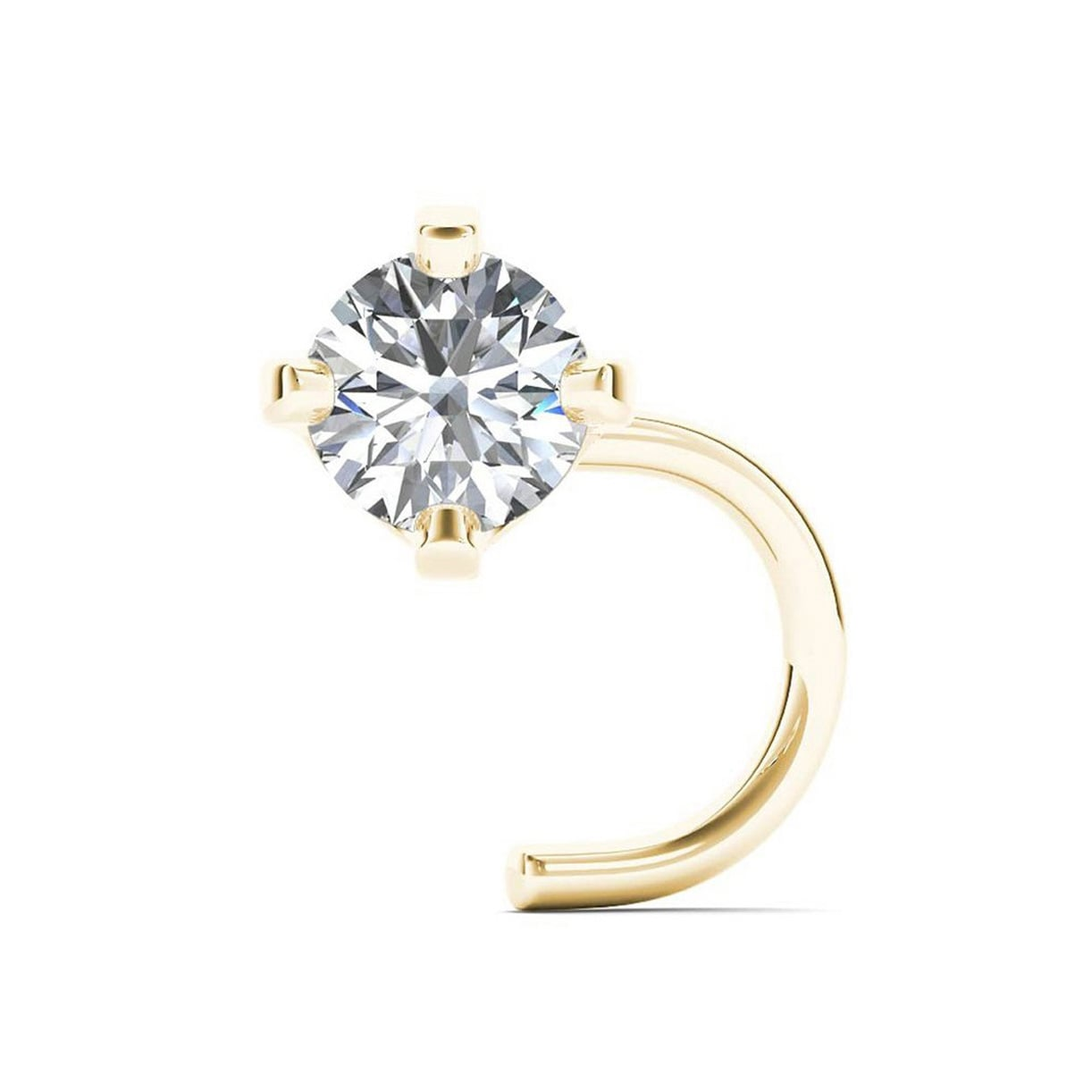 Shop Jewelmore 14k White Gold 1 10ct Tdw White Diamond 3 Mm 20