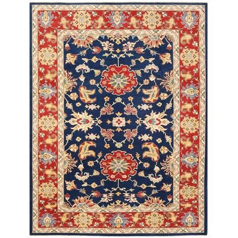 Handmade Vegetable Dye Oushak Wool Rug (Afghanistan) - 9'10 x 12'7