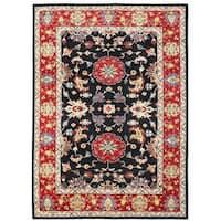 Herat Oriental Afghan Hand-knotted Vegetable Dye Oushak Wool Rug (9'11 x 13'10)